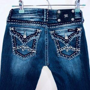 Miss Me Skinny Jeans Womens Size 25 Flap Pockets